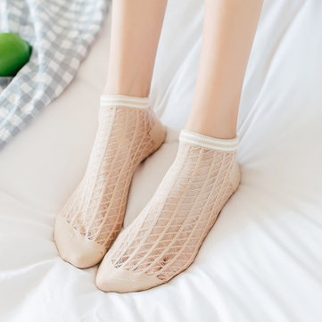Women Cotton Mesh Breathable Boat Socks