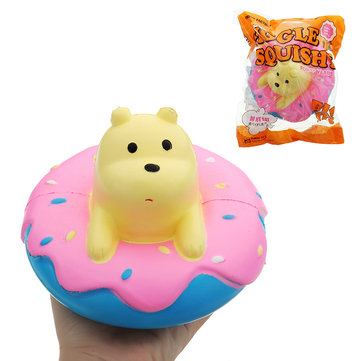 Giggle Squishy Donut Bear Slow Rising Toy Kawaii Jumbo 15cm Polar Bear Scented Doll