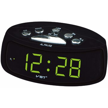 VST ST-9 EU Plug AC Power Desktop Led Digital Alarm Clock With Blue Red Green Backlight