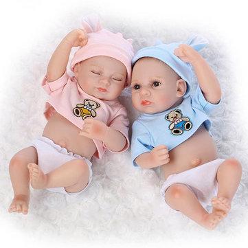10inch Twins Reborn Baby Doll Silicone Lifelike Boy Girl Play House Toy