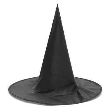 Halloween Witch Black Pointy Hat Adult Kids Cosplay Costumes 37 x38cm