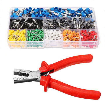Excellway® EC02 800Pcs Insulated Wire Connector Terminal Cord Pin End Terminal With Crimper Plier