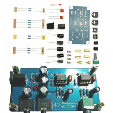 DIY HIFI Headphone Amplifier Single Power Supply PCB AMP Kit