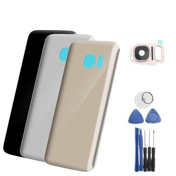 Arka Cam Batarya Kapı Muhafazası Kapağı + Arka Kamera Samsung Galaxy S7 Lens + Takımlar için