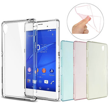 Ultra Slim Soft TPU Silicone Transparent Case Back Cover For Sony Xperia Z3