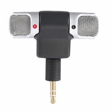 Taşınabilir Mini Stereo HD Yayın Mic Kaydı Mikrofon, 3.5mm Jack ile Cep Telefonu PC'si için
