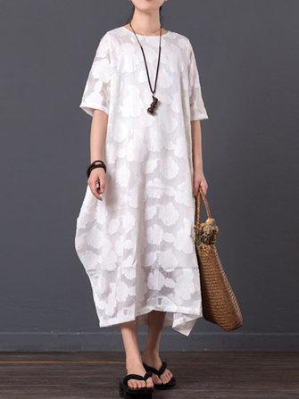Short Sleeve Oversize Maxi Dresses