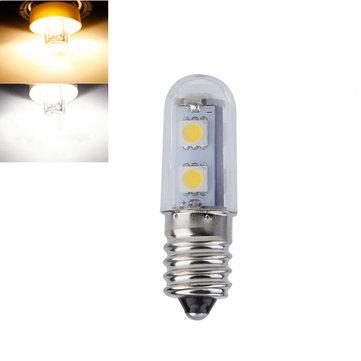 E14 1W SMD5050 7LEDs Warm White Pure White Refrigerator Light Bulb AC110V AC220V