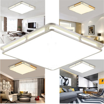 24W 1000LM Modern Square Acrylic LED Ceiling Lights Flush Mount Light Fixture for Bedroom 110V-220V