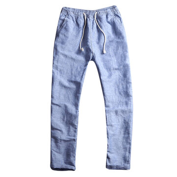Chinese Style Breathable Cotton Linen Loose Pants