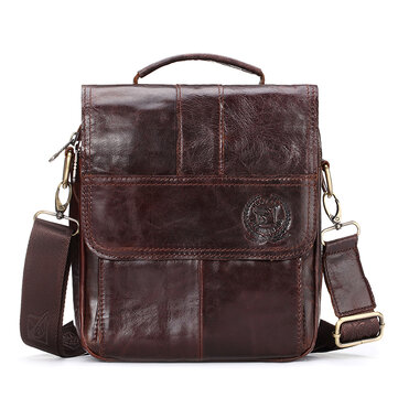 Men Genuine Leather Messenger Bags Fashion Crossbody Bag Shoulder Male Small Designer Travel Bag
