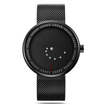 SINOBI 9768 Ultrathin Space-time Creative Watches Fashionable Stainless Steel Strap Quartz Watch
