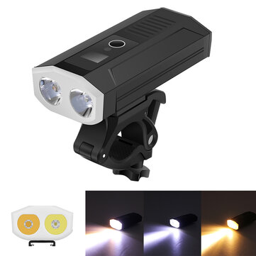 XANES DL13 2* L2 1500LM Smart Power Indicator 5200mAh Rechargable Wide Angle IP65 Waterproof Bike Light Power Bank