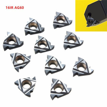 10pcs 16IR AG60 Carbide Threading Inserts Internal Turning Tool Holder Inserts