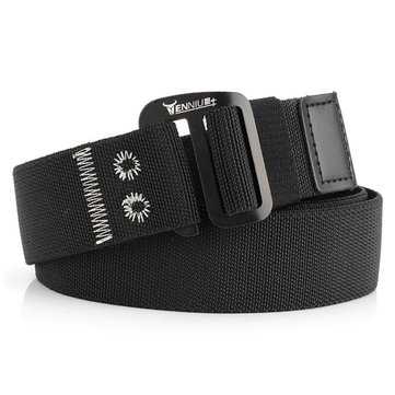 Men Nylon Elastic Belt Outdoor Woven Canvas Belt
