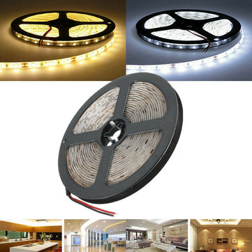 Buy 5M Waterproof White/Warm White SMD 5730 300 LED Flexible Strip Tape Light DC12V for $8.99 in Banggood store