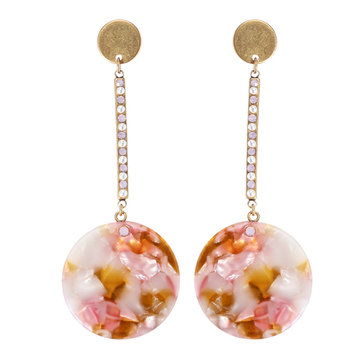 JASSY Acetic Acid Earring Rhinestone Pearl Coin Bar Geometric Dangle Earrings Party Jewelry Gift