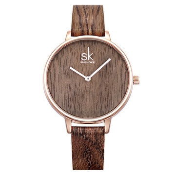 SK K0078 Creative Leather Strap Women Wrist Watch