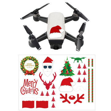 DIY Christmas Sticker Set Skins Decals Decorative for DJI Spark Mavic Pro Phantom 4 Pro/3 SE Drone