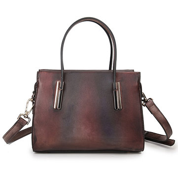 Women Genuine Leather Vintage Handbag Leisure Travel Shoulder Bag