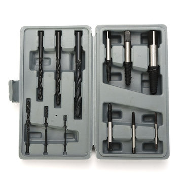 12Pcs HSS Stud Screw Extractor Remover Tool Set Reverse Thread Easy Out 3-25mm