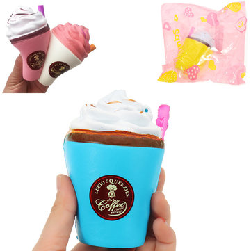 Suction Cup Coffee Squishy 8*10cm Slow Rising Soft Collection Gift Decor Toy With Packaging