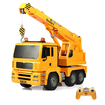 Double Eagle E516-003 1/20 2.4G Rc Car Engineering Crane Truck 360° Rotation W/ Light Sound Toys