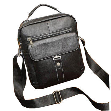 Retro Genuine Leather Shoulder Bag Capacity Outdoor Leisure Briefcase Crossbody Bag Handbag