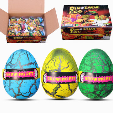 12PCS Huge 6cm Dinosaur Egg Package Wholesale Hatching Growing Magic Water Novelties Toys With Box
