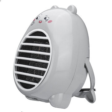250W Mini Air Heater Cartoon Warming Equipment Desktop Electric Heater Fan