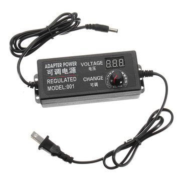 Excellway® 3-24V 2A 48W AC/DC Adapter Switching Power Supply Regulated Power Adapter Supply Display