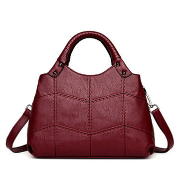 Women Vintage Soft PU Leather Handbag