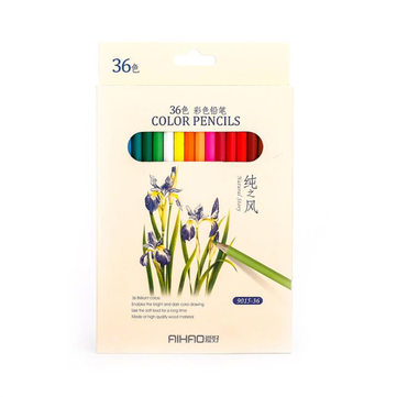 AIHAO 9015 36 Colors Colored Pencils Painting Drawing Sketching Pencil Set Crayon Stationery Office School Supplies