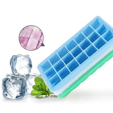 KCASA KC-IT01 21 Grid DIY Ice Cube Fruit Mold Square Shape Silicone Ice Tray Maker Kitchen Tool