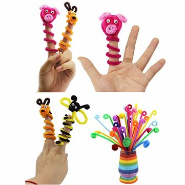 100PCS Yarn Wool Twisting Rod Color Wool Top Kids DIY Handmade Decorations Toy