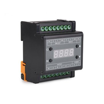 AC90-240V 3 Channels DMX LED Triac Dimmer Controller for Strip Lighting