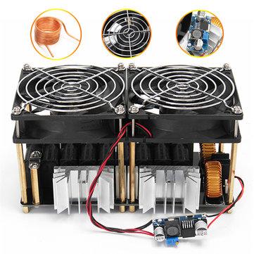 1800W 40A ZVS Induction Heating Board Module Flyback Driver Heater+Tesla coil+fan