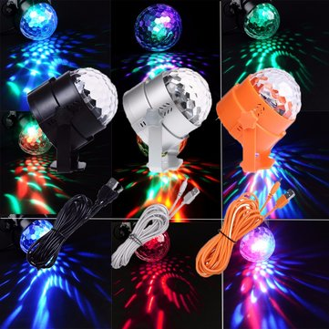 U`King RGB 3 LED Stage Light Crystal Ball Effect Lighting Party Club DJ Disco Xmas Lamp
