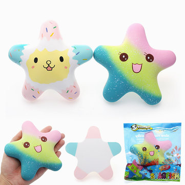 Vlampo Squishy Starfish Luminous Glow In Dark Slow Rising Original Packaging Collection Gift Toy