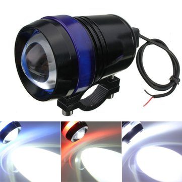 12V 30W Motorcycle U3 LED Angel Eye Driving Fog Spot Headlight Hi/Lo Flash Lamp