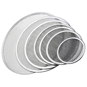 Seamless Rim Aluminium Mesh Pizza Screen Baking Tray Net Bakeware Cooking Tools