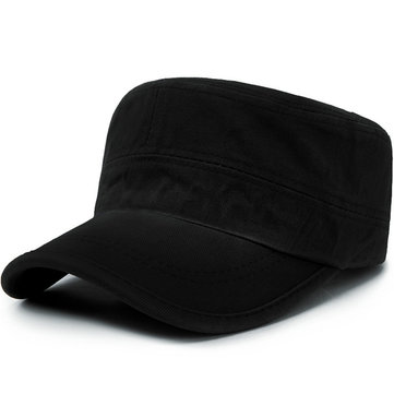 Men Casual Cotton Trend Adjustable Flat Hat