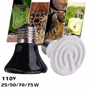110V Diameter 60mm Pet Ceramic Emitter Heated Appliances Reptile 25W/50W/75W/100W