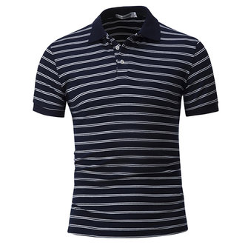 Stripe Hit Color T-shirt Hommes Casual T-shirt à manches courtes