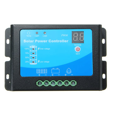 12V/24V 10A PWM Solar Charge Controller Auto Switch Panel Cell Battery Regulator