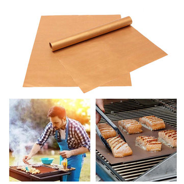 IPRee™ 4PCS Outdoor Picnic BBQ Grill Mat Camping Non-stick Reusable Bake Pad Tool