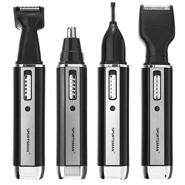 4 In 1 Electronic Trimmer Washable Nose Hair Eyebrow Sideburn Beard Trim Heads