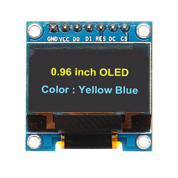 Geekcreit® 7Pin 0.96 Inch OLED Display 12864 SSD1306 SPI IIC Serial LCD Screen Module For Arduino
