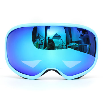 Skiing Goggles Double Lens Anti Fog UV Snowboard Snowmobile Motorcycle Sport Blue