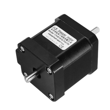 Double Shaft Nema 17 Stepper Motor 1.7A 0.55Nm Bipolar 4 Wires for DIY 3D Pinter CNC